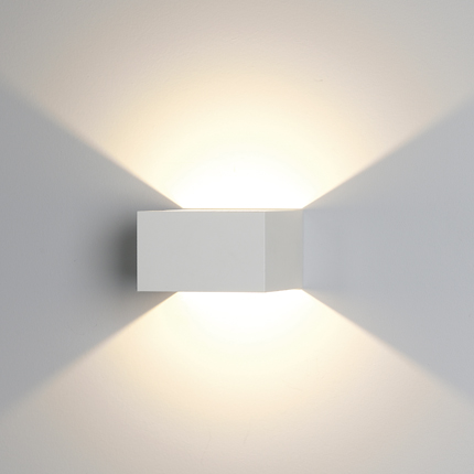 Ansell External Wall Lights : AFWLED/W - Ansell Facet LED White 4W LED Wall Light Warm White - Your Electrics Electrical ...