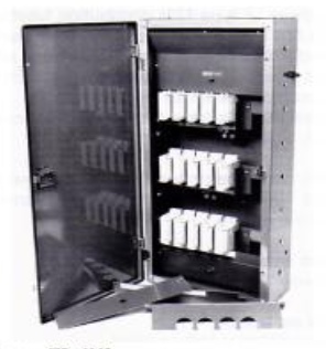 TP15AVS/100 - Ryefield Vertical Three Phase Distribution Board Taking 15 100A Fuse Units
